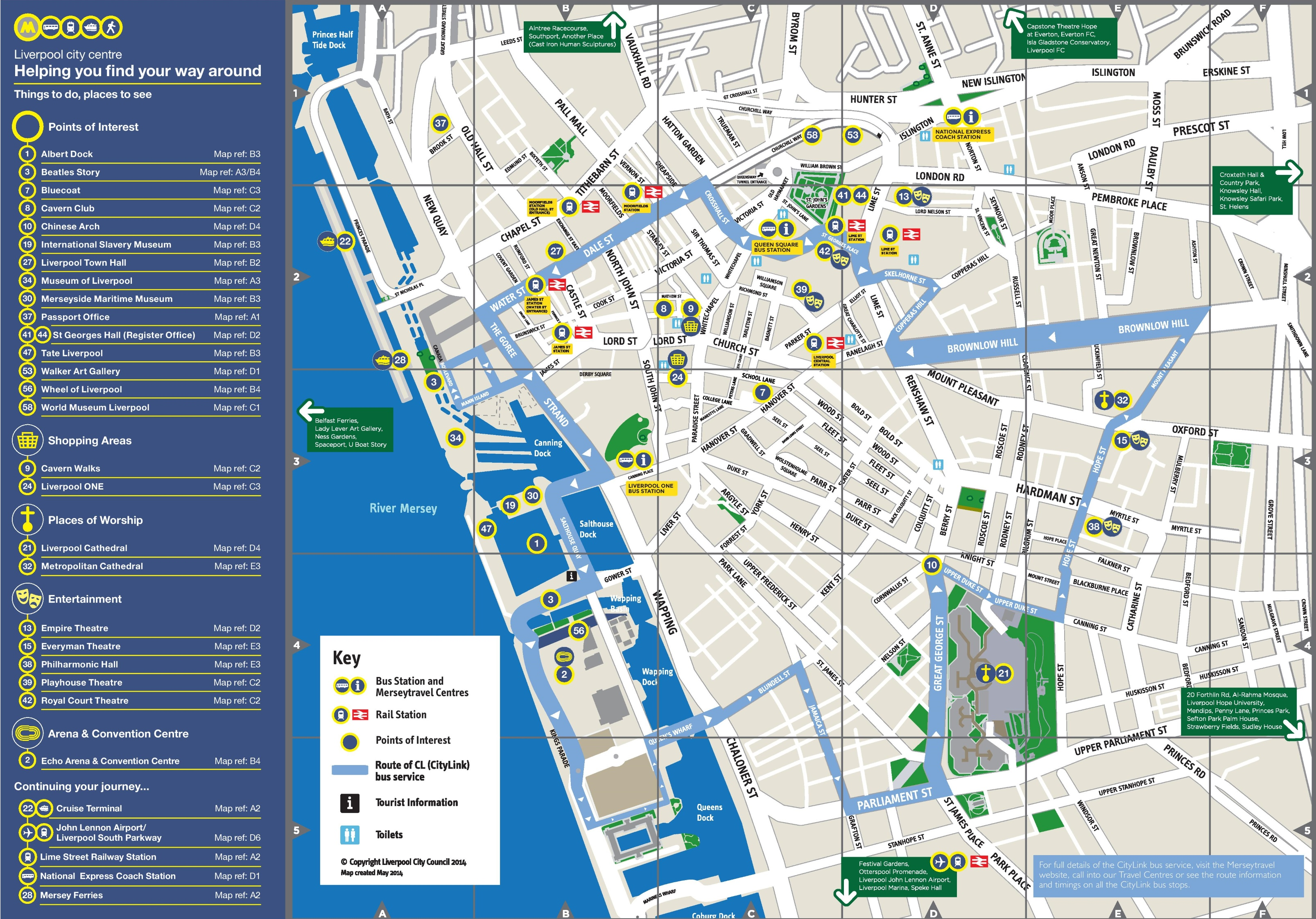 Liverpool visitor map