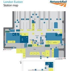 Euston railway station map