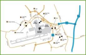 Gatwick car parking space map