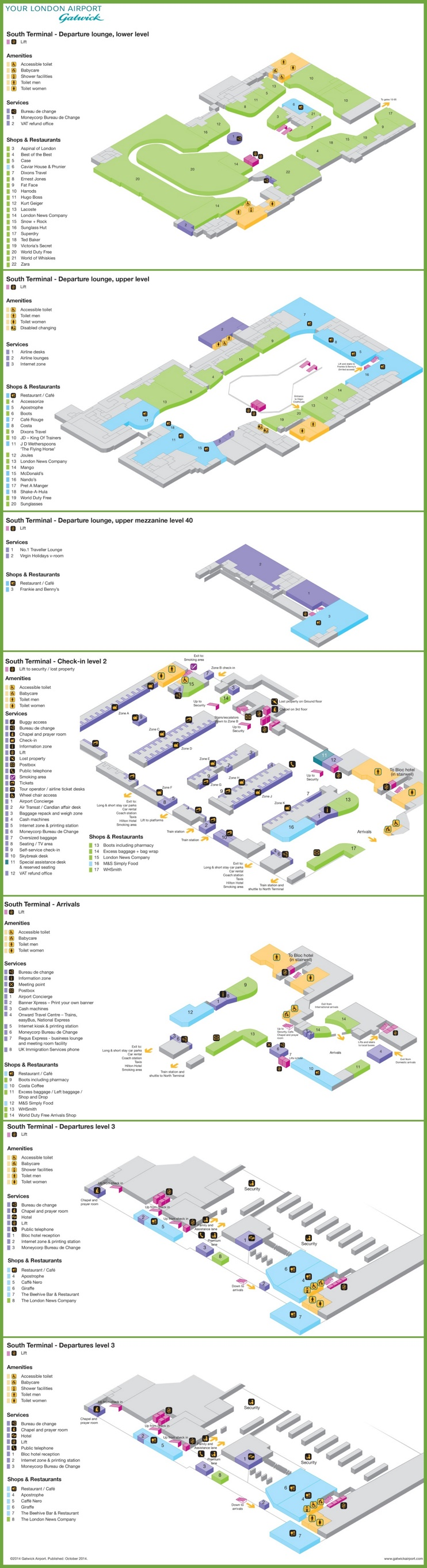 Gatwick south terminal map