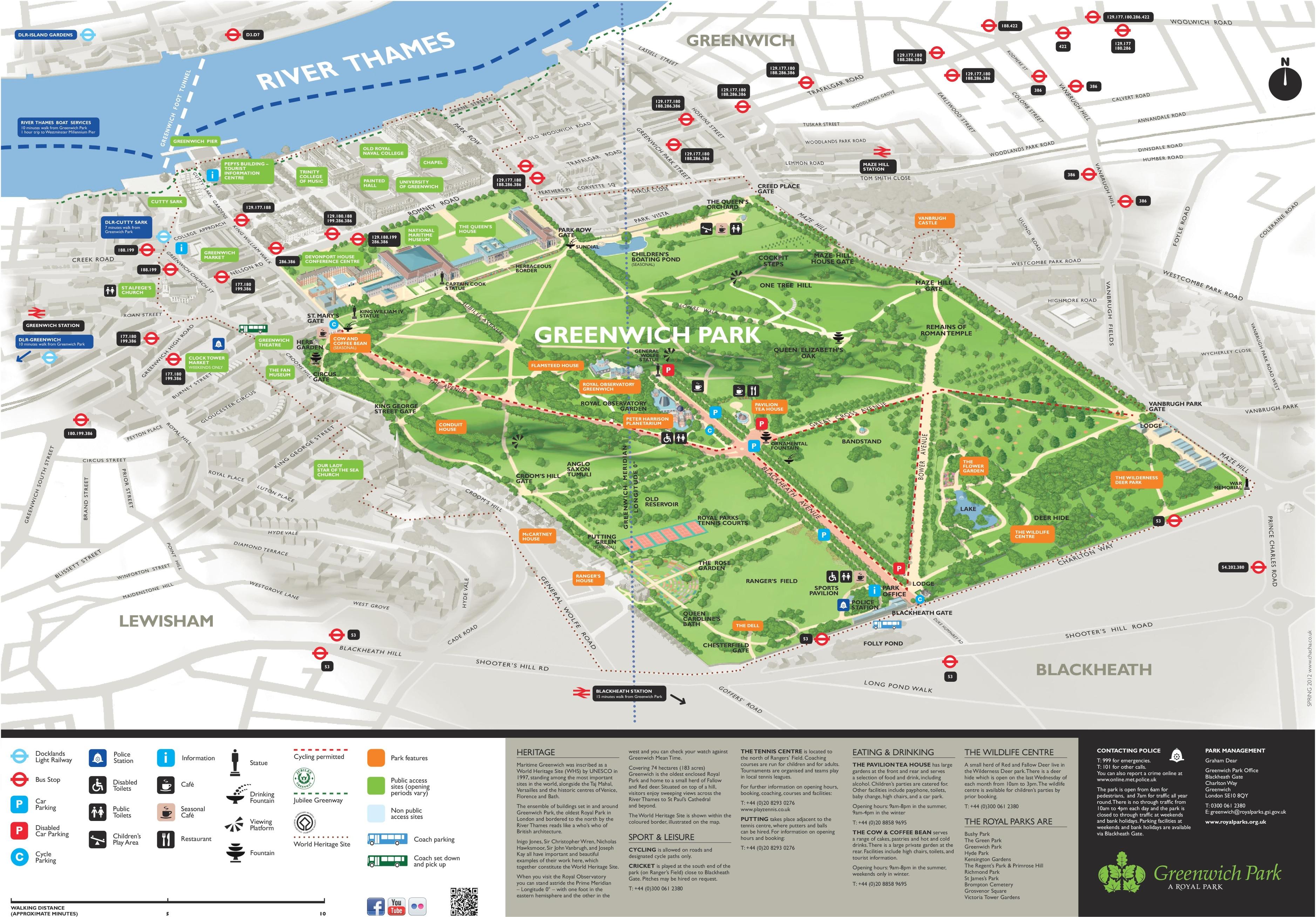 Greenwich Park Map Greenwich Park map