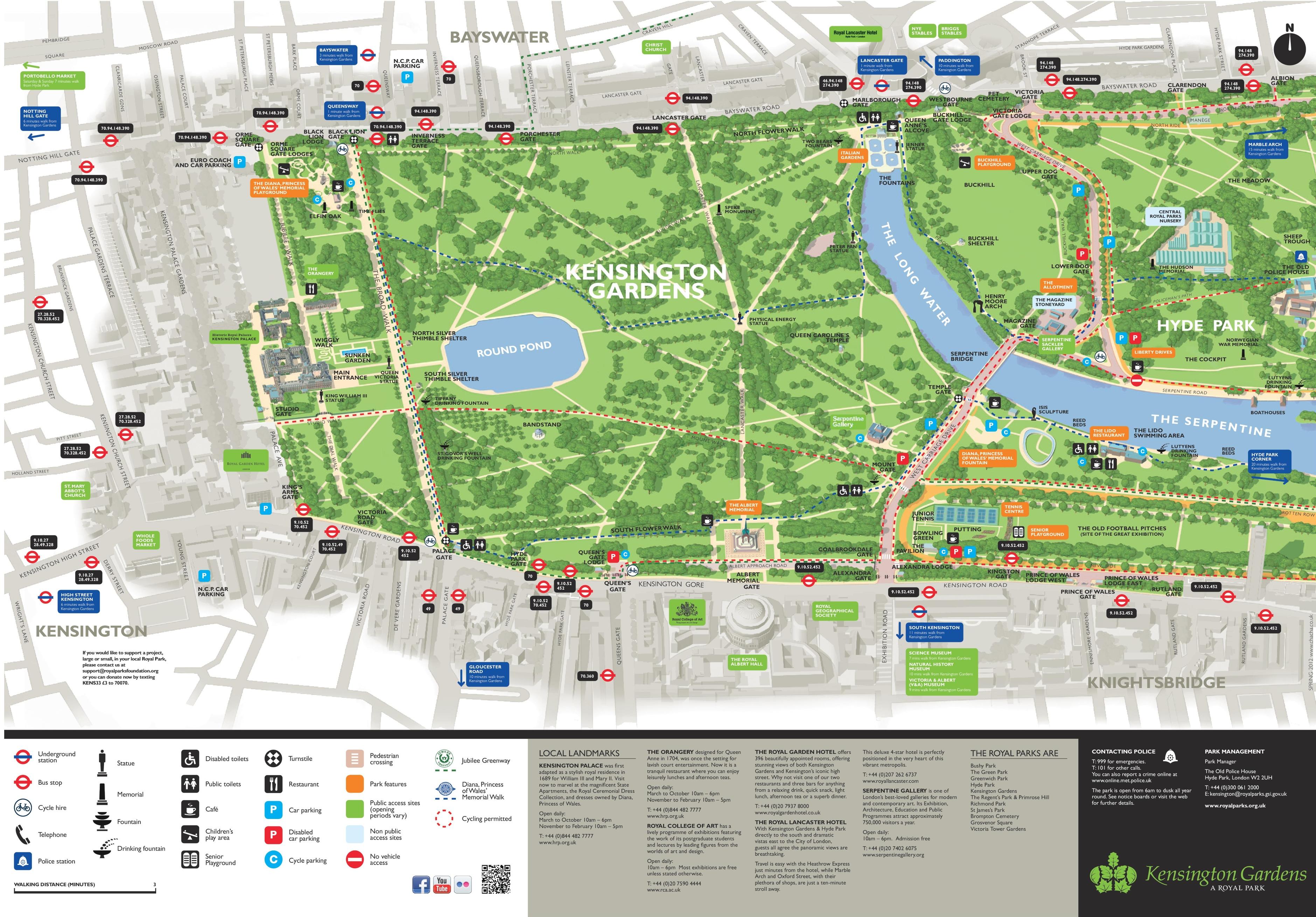 Kensington Gardens Map Kensington Gardens map
