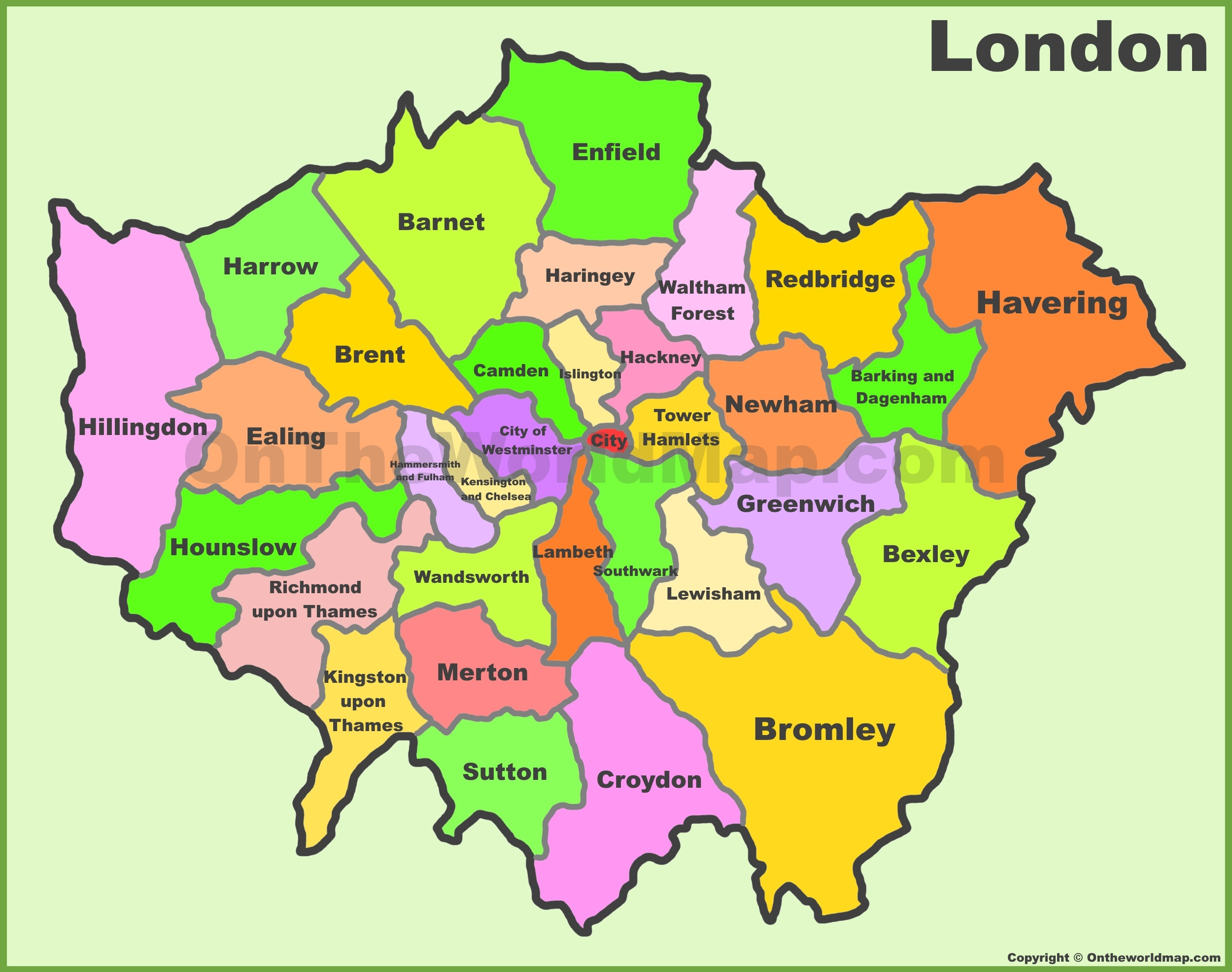 London Boroughs Map London boroughs map London Boroughs Map