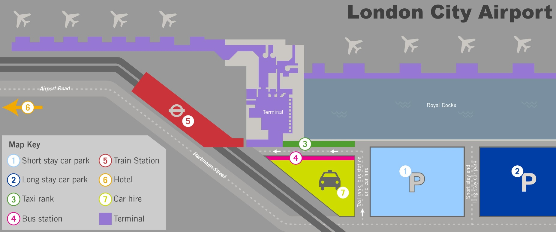 London city airport map – London City Map