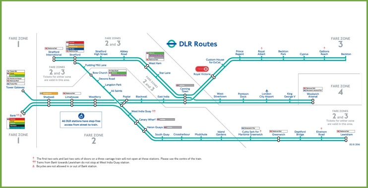 London DLR map