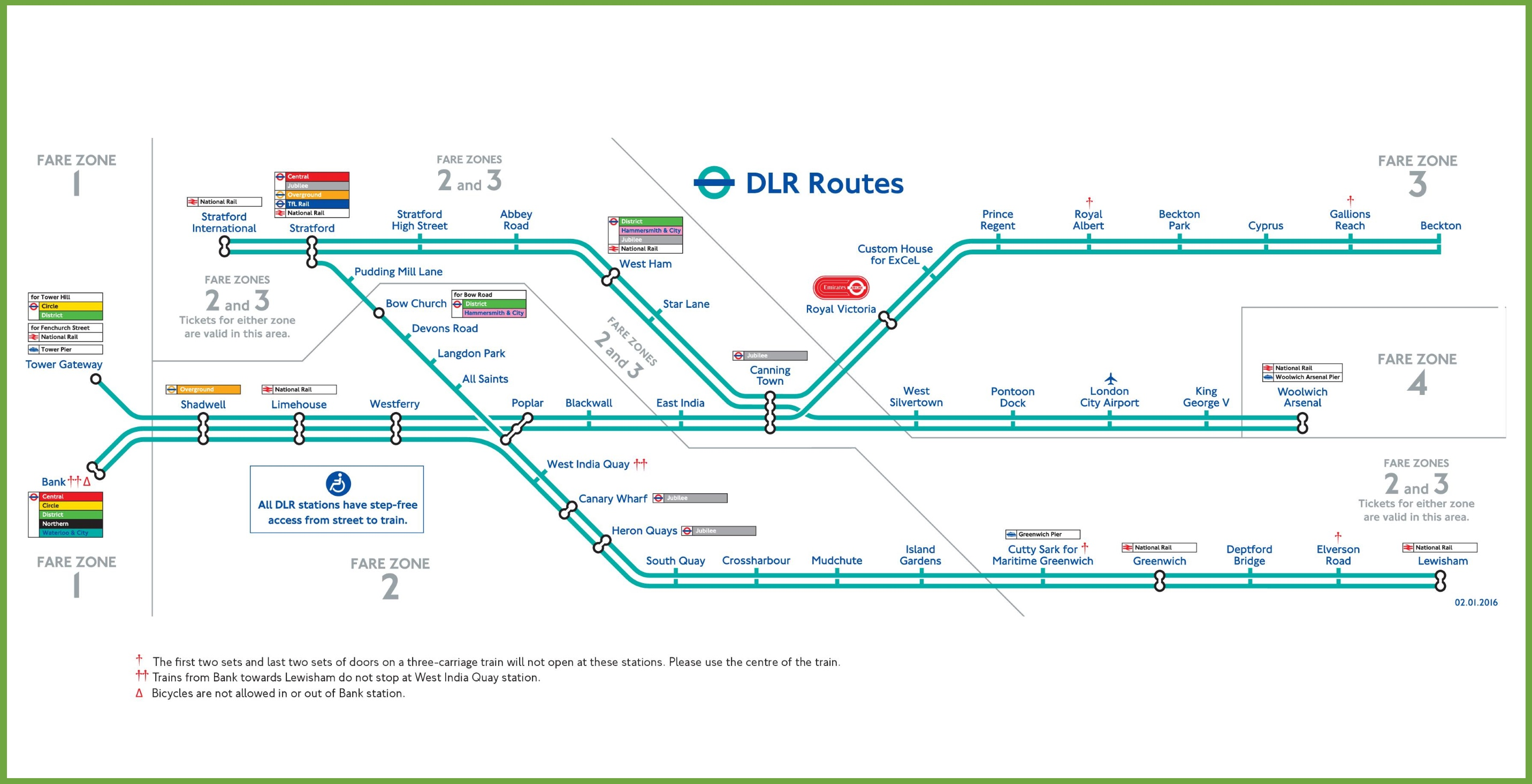 Docklands Light Railway Map London DLR map Docklands Light Railway Map