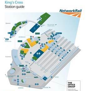 London King's Cross railway station map