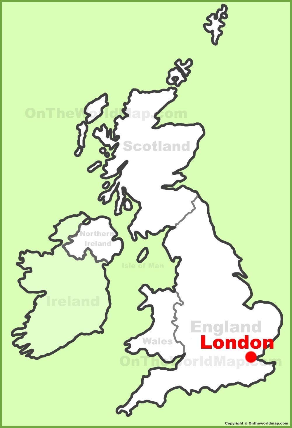 Map Of England Showing London.London Location On The Uk Map