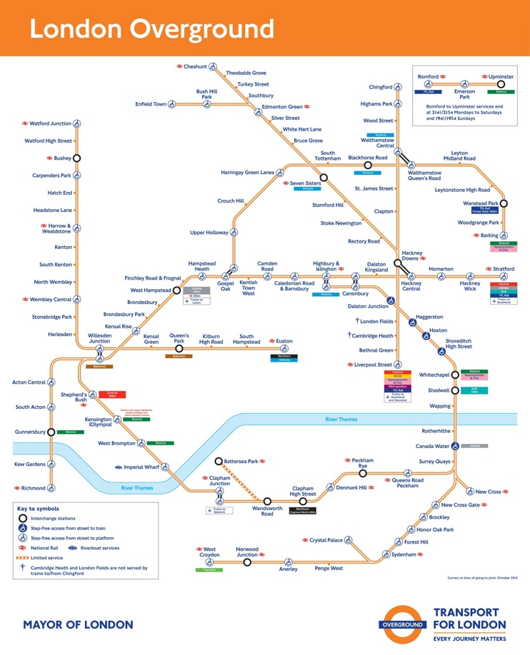 London Overground Network Map