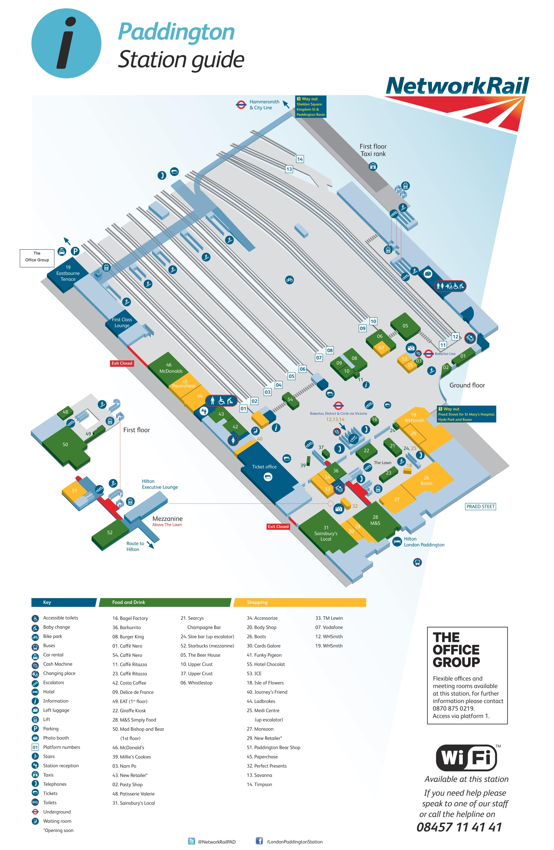 London Paddington Railway Station Map