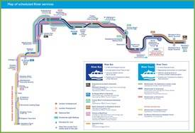 London river bus tours map