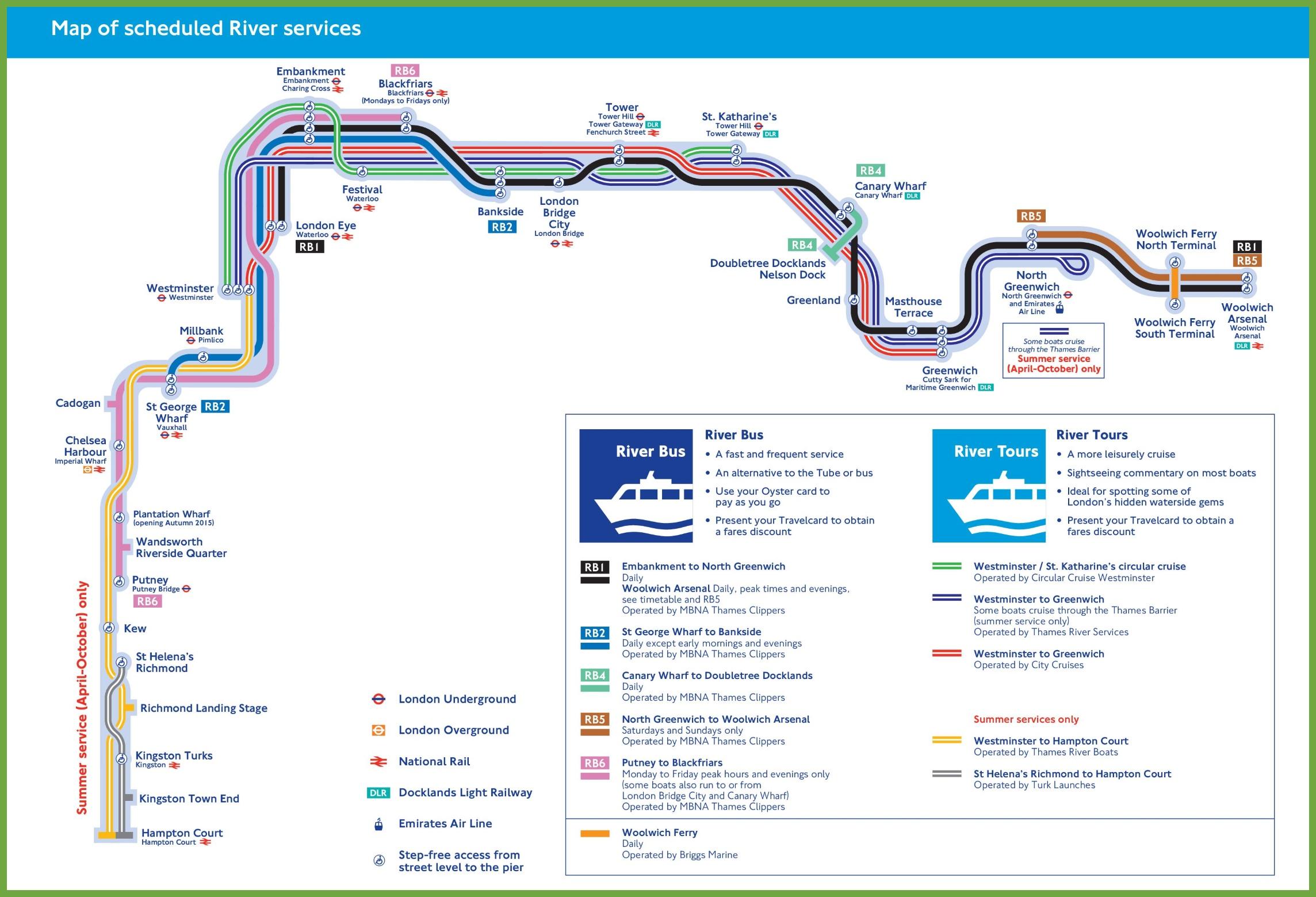 London City Bus Map.London River Bus Tours Map