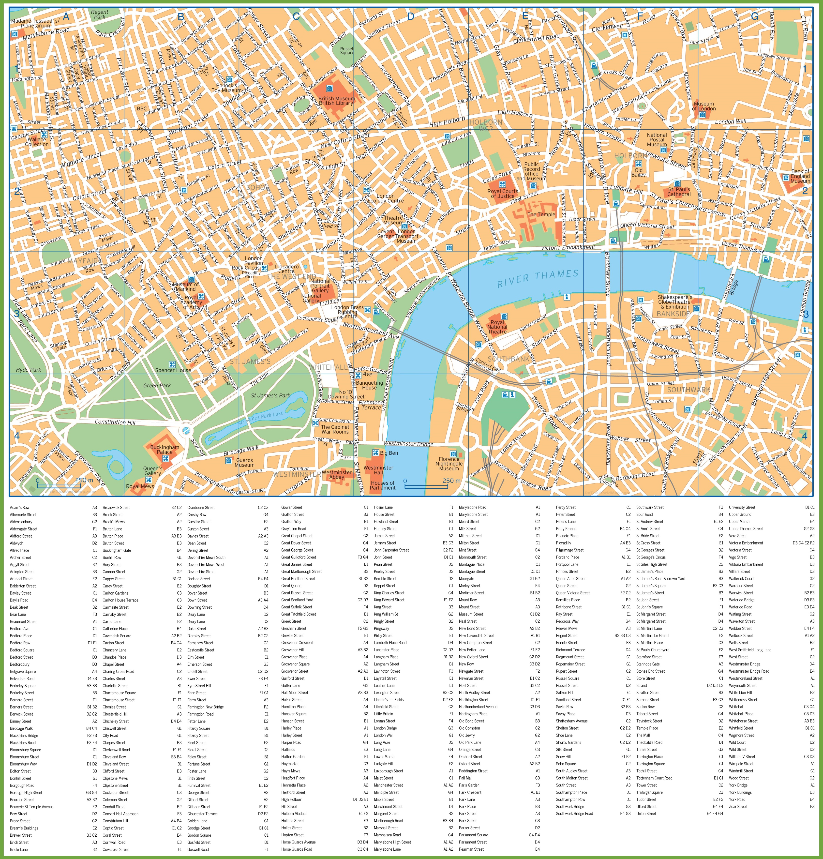Street Map Of London Uk.London Street Map