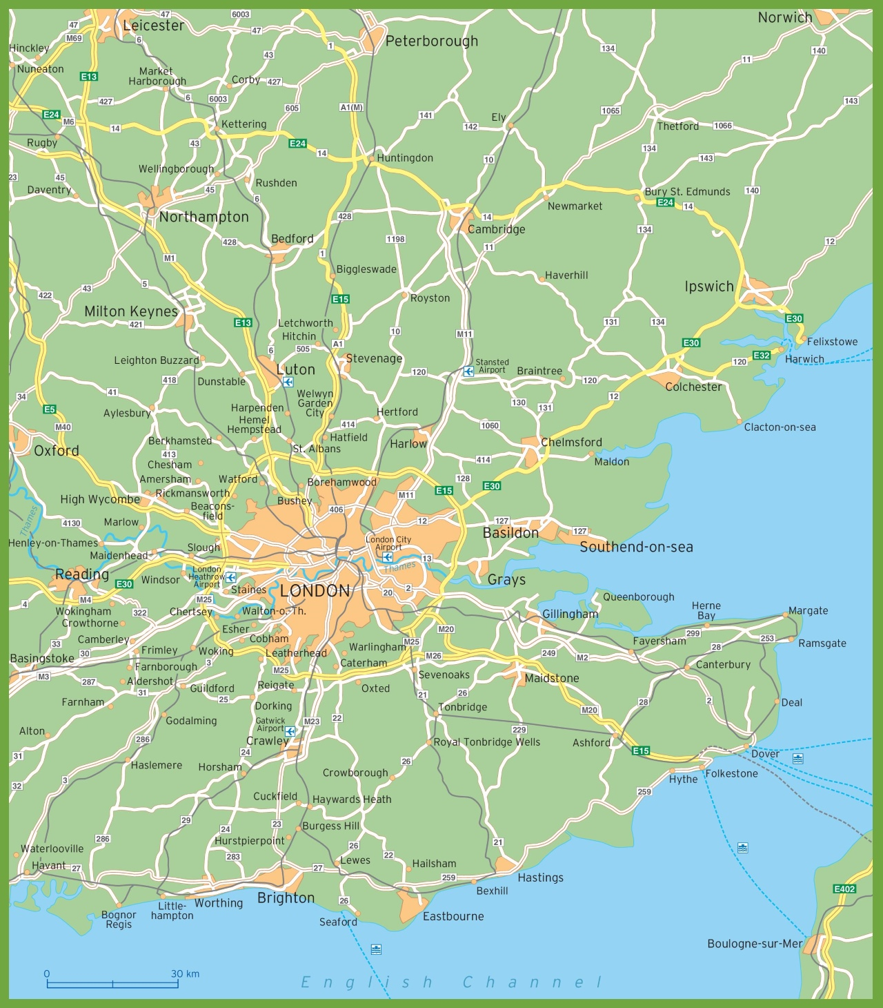 Map Of Areas Of London.London Surroundings Map