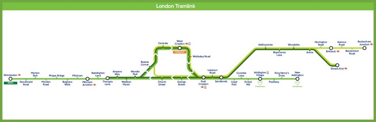 London tramlink map