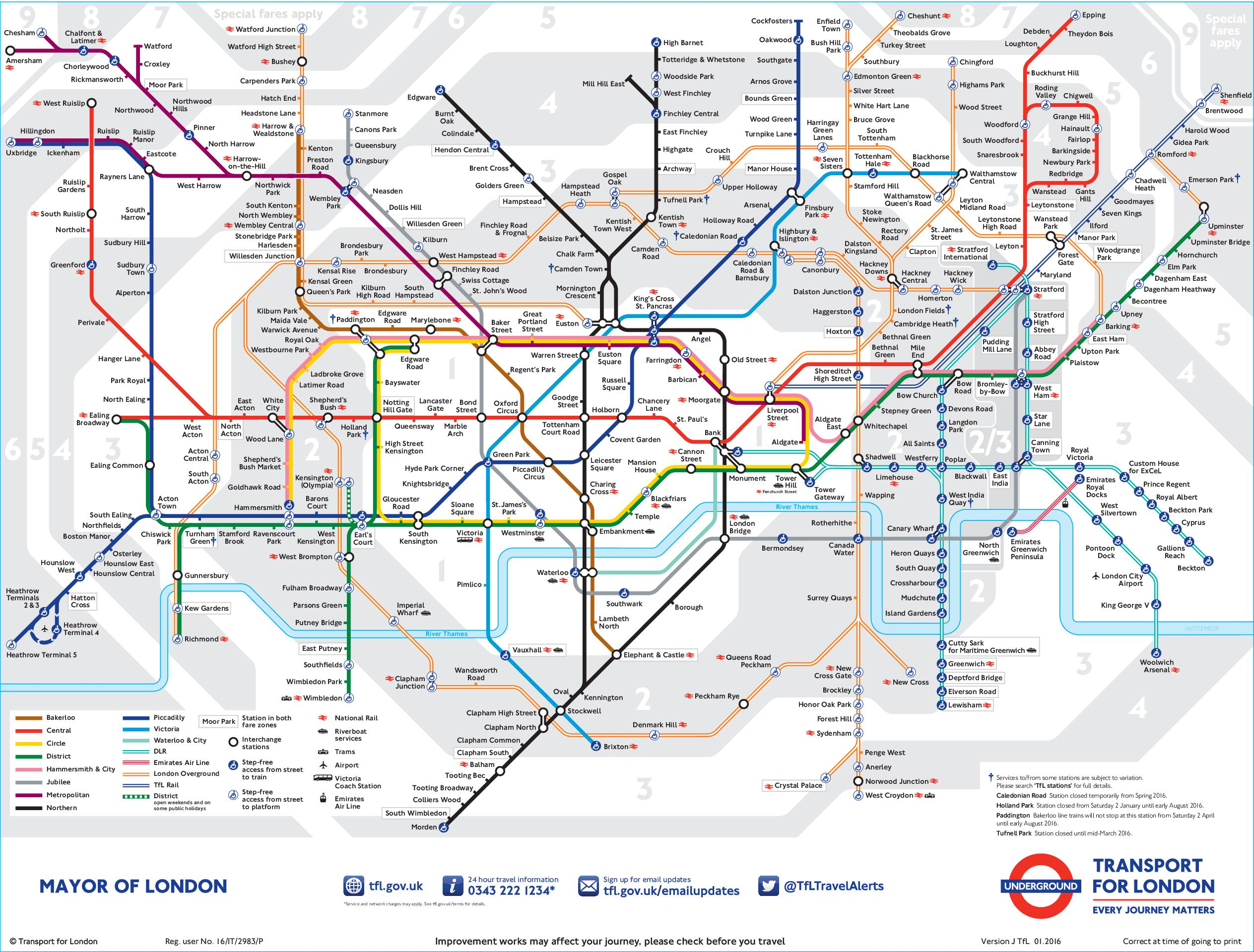 Large Tube Map London tube map