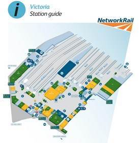 London Victoria railway station map