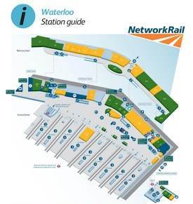 London Waterloo railway station map