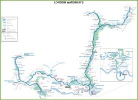 London Waterways Map
