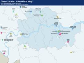 Outer London tourist attractions map