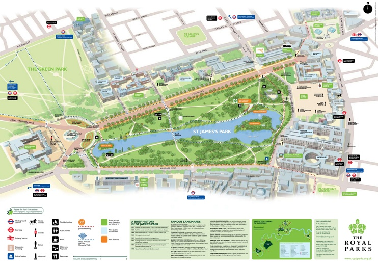 St. James's Park map