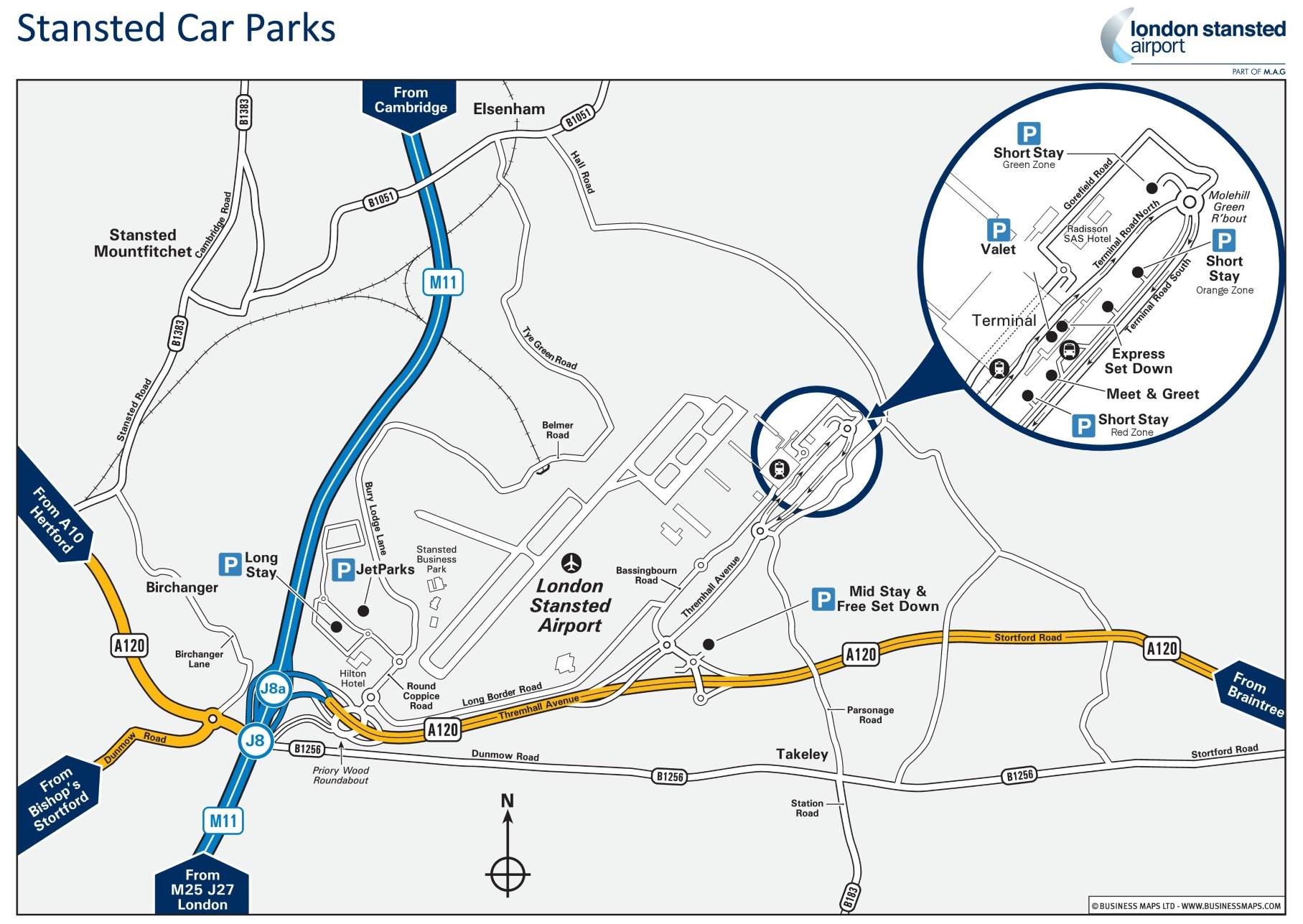 Stansted Car Parking Space Map