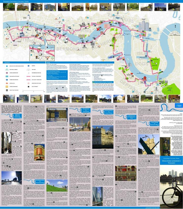Thames Cultural Cycling Map