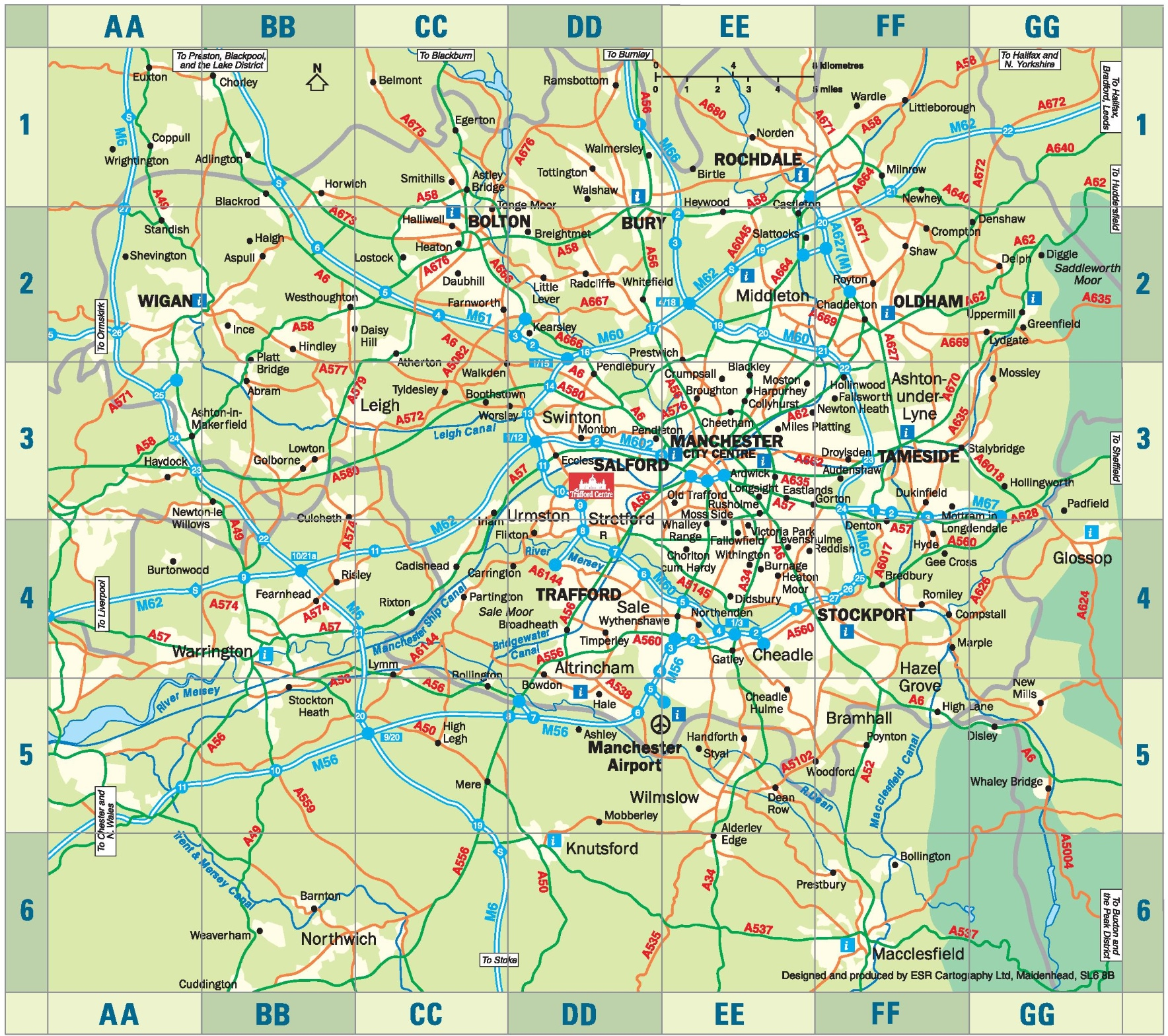 Map Of Manchester Uk Greater Manchester map Map Of Manchester Uk