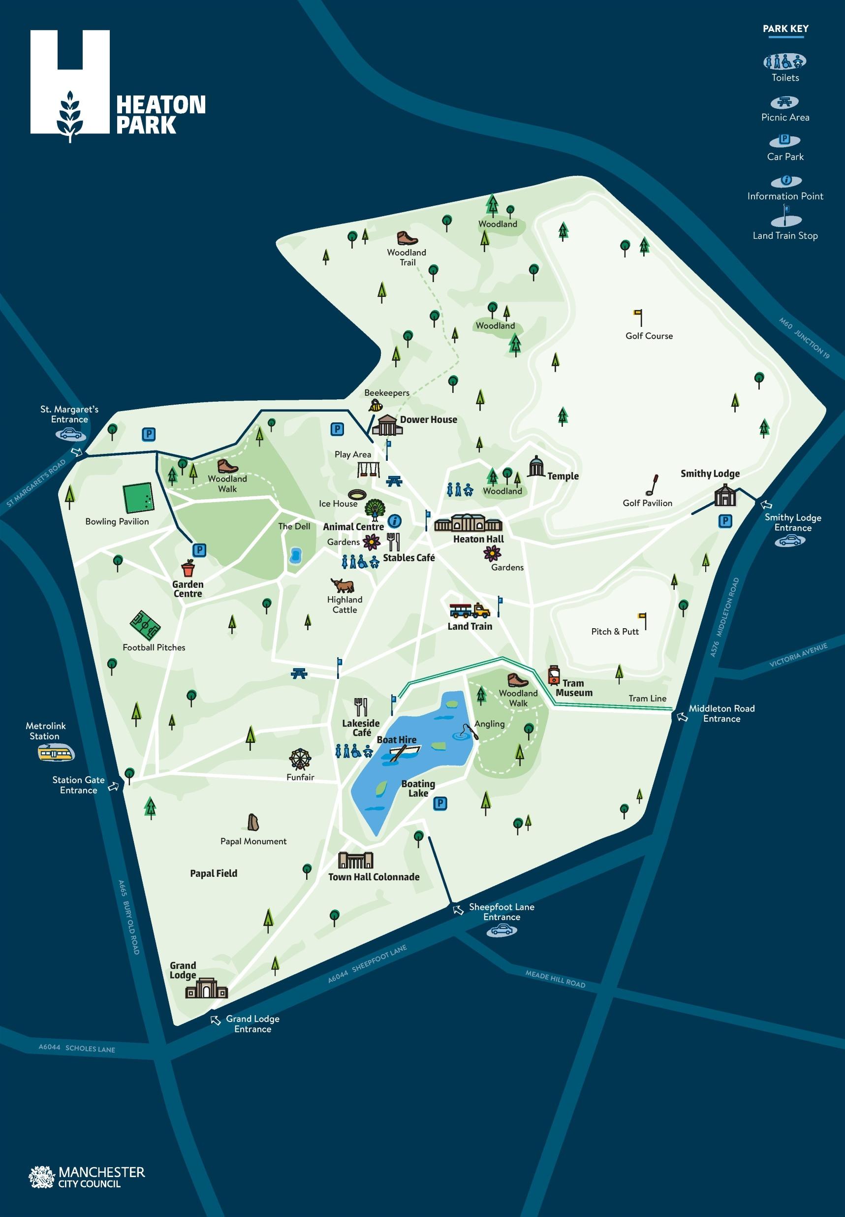 Heaton Park Map