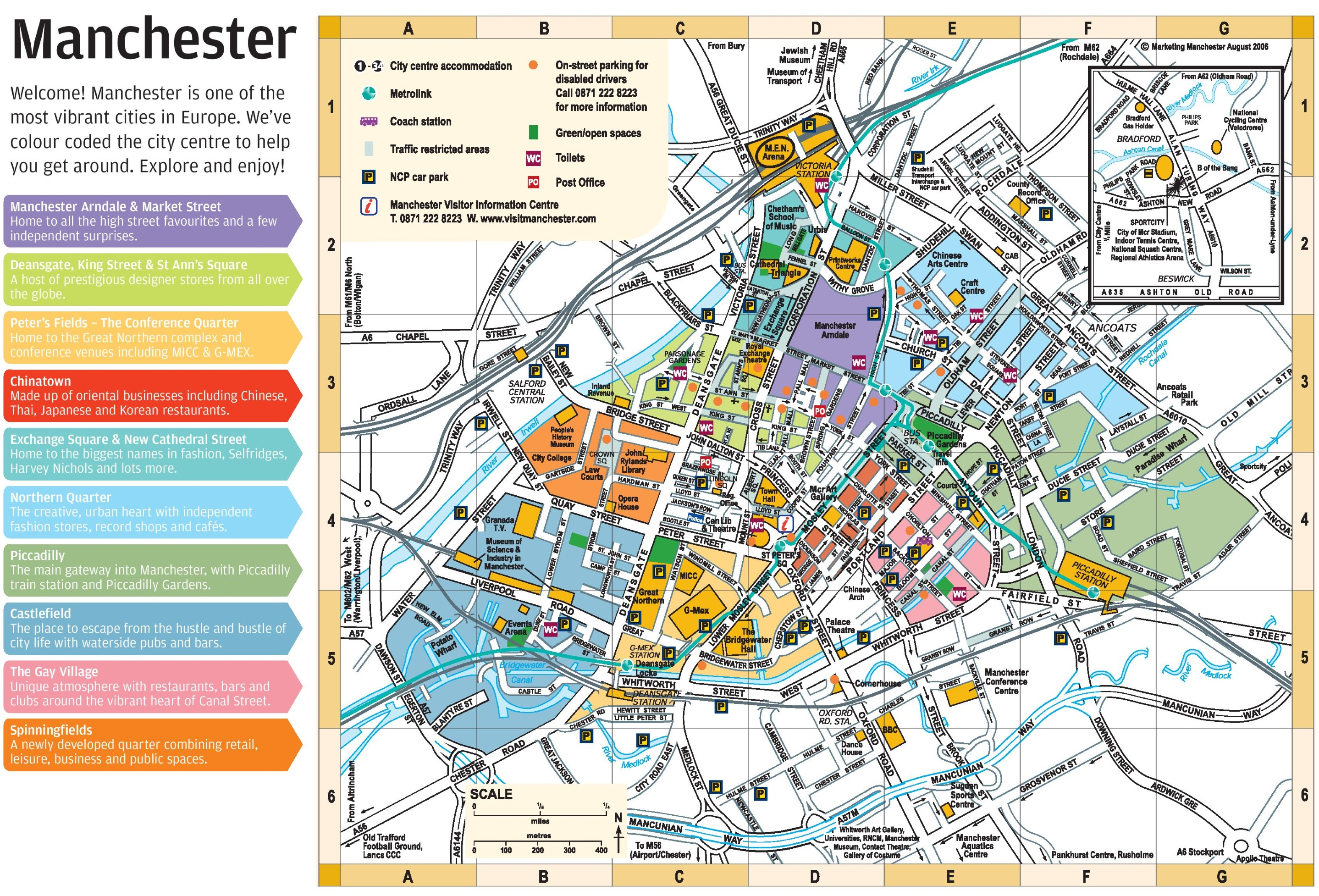Map Of Manchester City Centre Manchester city center map Map Of Manchester City Centre