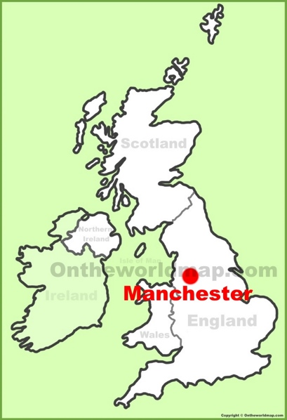 Manchester Location Map