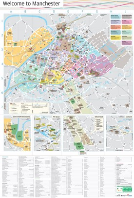 Manchester sightseeing map