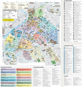 Manchester tourist attractions map