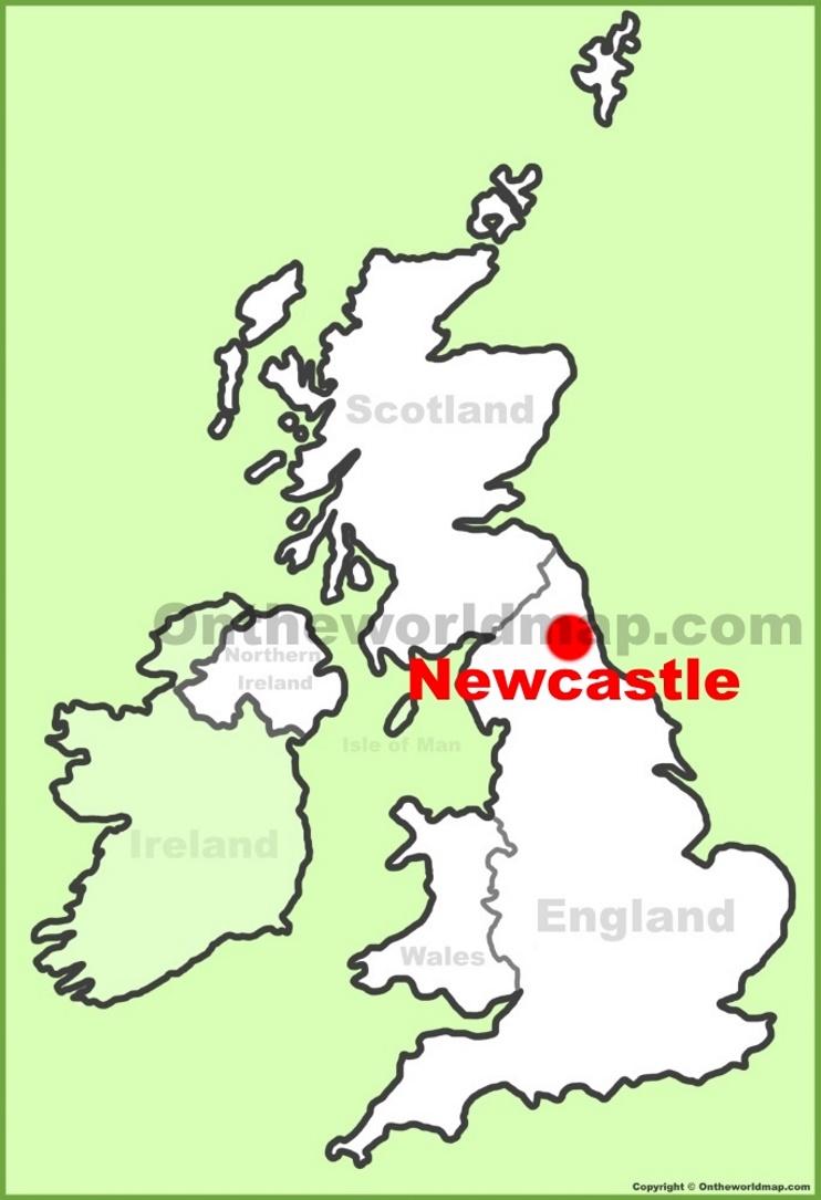 Newcastle England Map Newcastle Maps | UK | Maps of Newcastle upon Tyne Newcastle England Map
