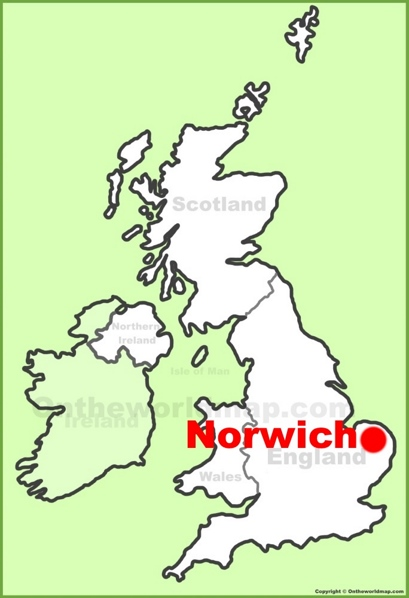 Norwich Location Map