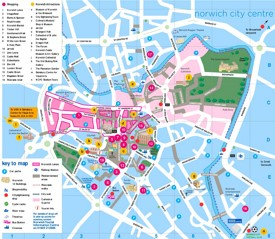 Norwich sightseeing map