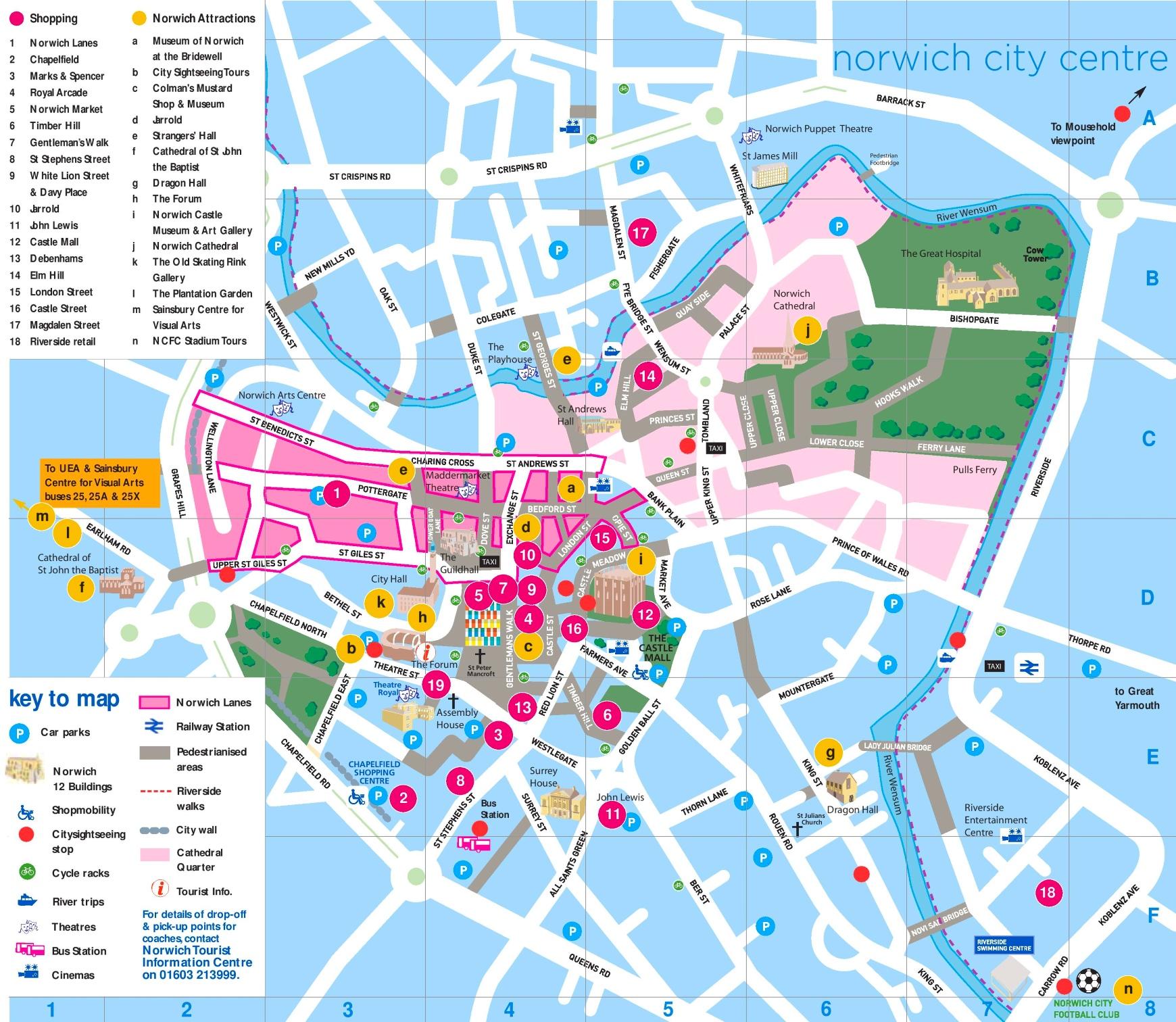 Norwich Maps UK Maps of Norwich