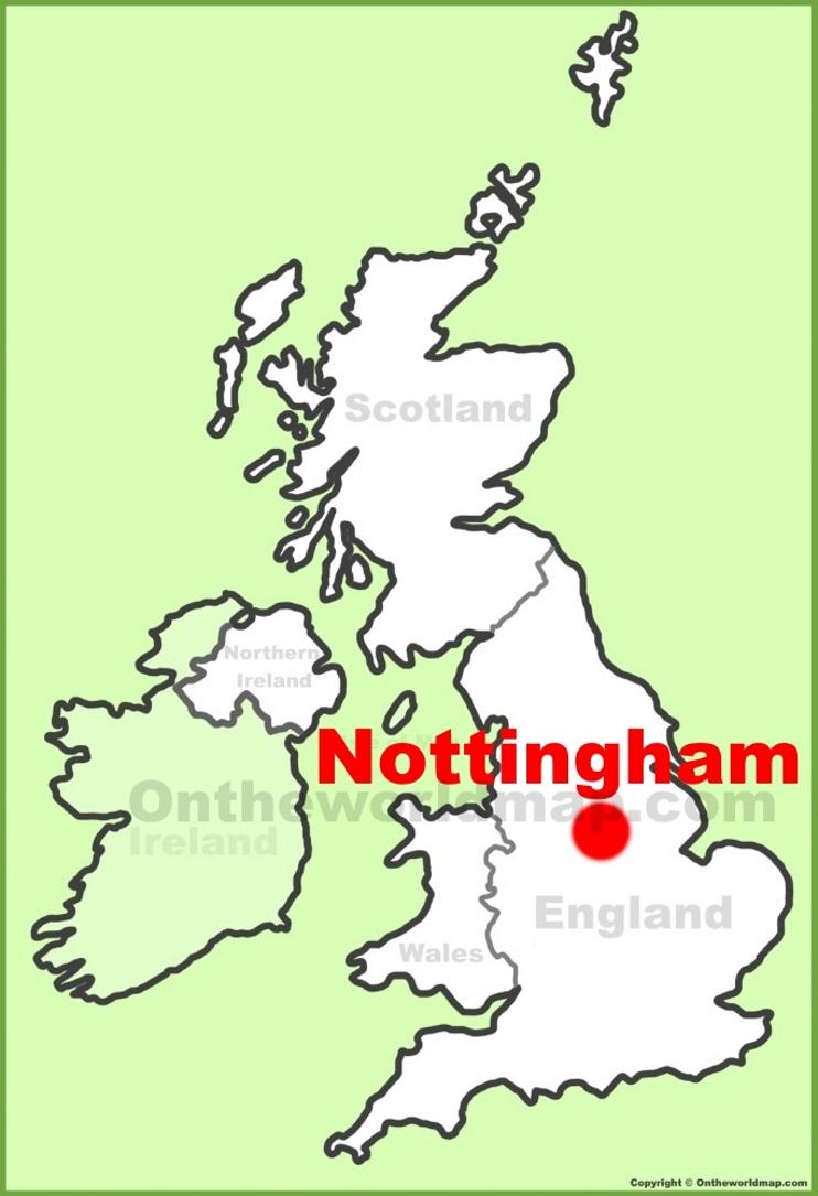 Map Of Uk Nottingham.Nottingham Maps Uk Maps Of Nottingham