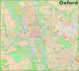 Detailed map of Oxford