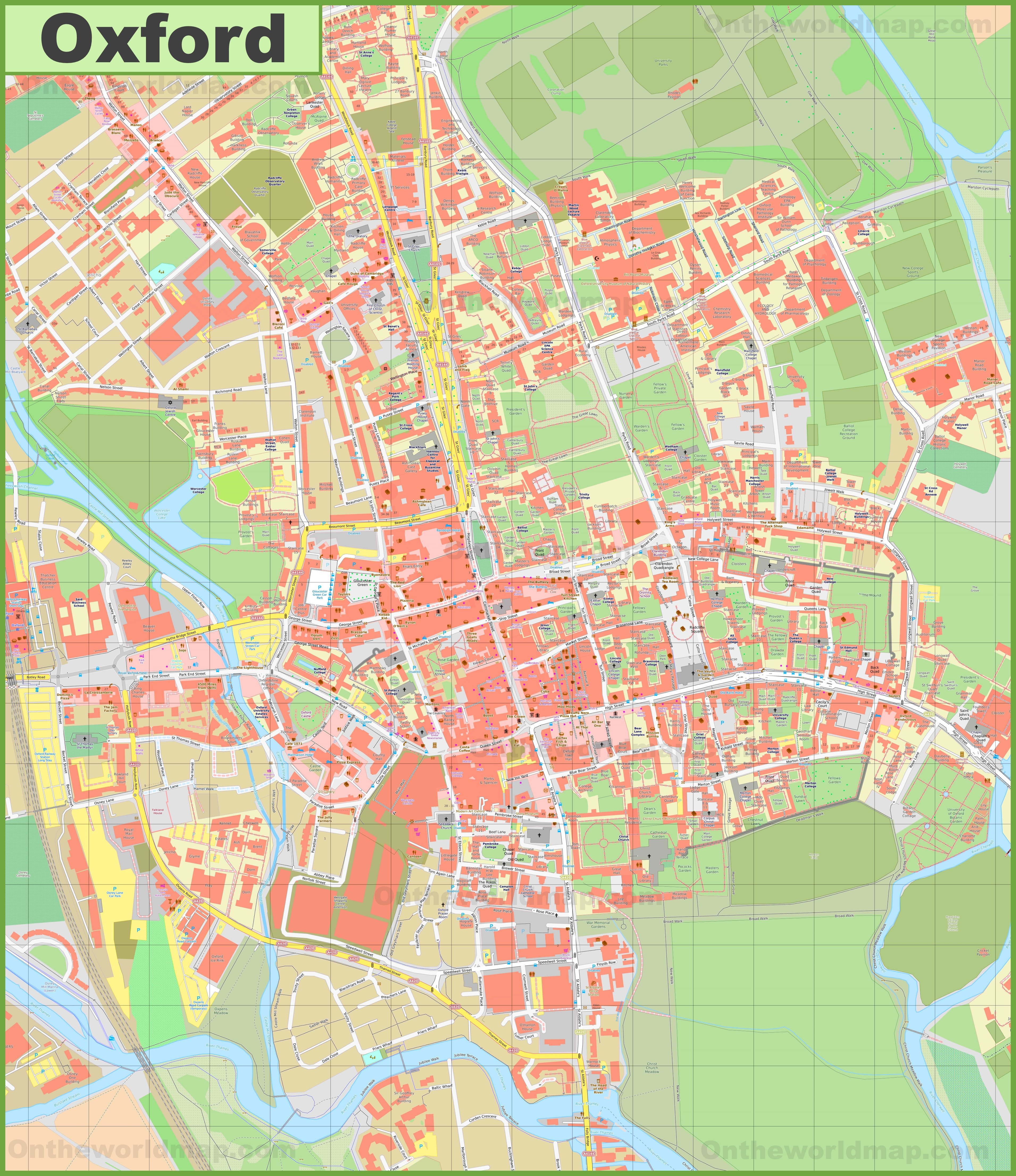 Map Of Uk Oxford.Oxford Maps Uk Maps Of Oxford