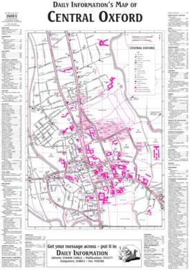 Oxford Maps UK Maps of Oxford