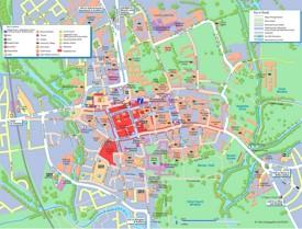 Oxford tourist map