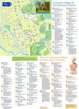 Oxford University map