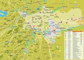 Peterborough area map