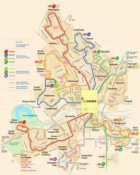 Peterborough bus map