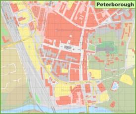 Peterborough city center map