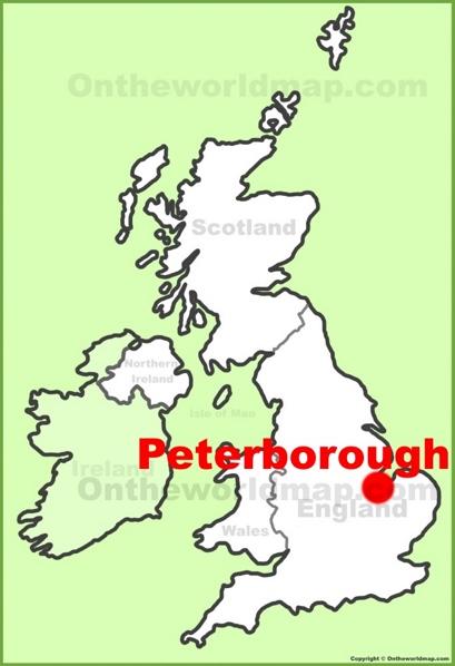 Peterborough Location Map