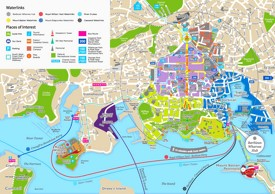 Plymouth tourist map