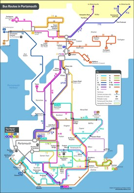 Portsmouth bus map