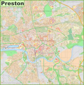 Detailed map of Preston